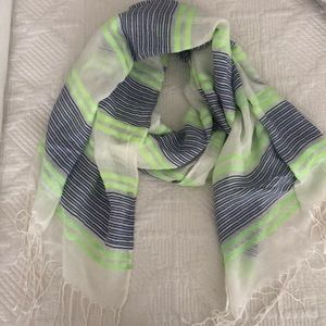 Blue, green and white scarf (Maurice's) like new